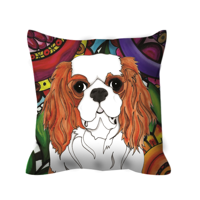 Cavalier King Charles Spaniel Dog Outdoor Pillow - BL