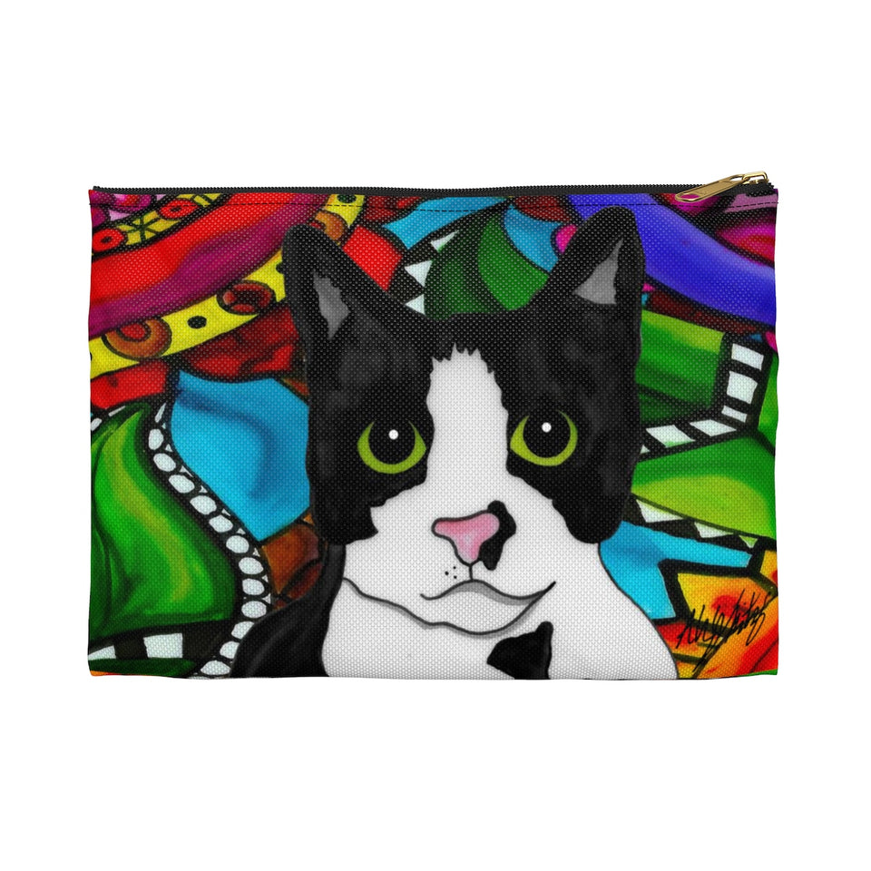 It's a Beautiful Tuxedo Cat Life Zipper Pouch