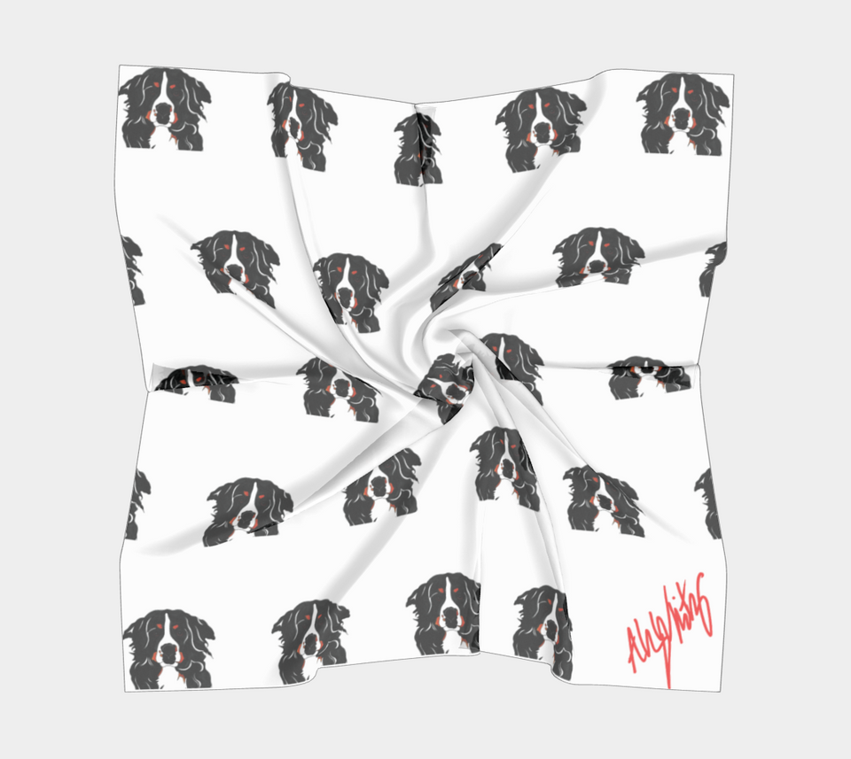 Bernese Mountain Dog Square Scarf