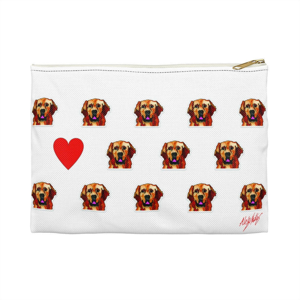 Golden Retriever Dog Zipper Pouch- SMH