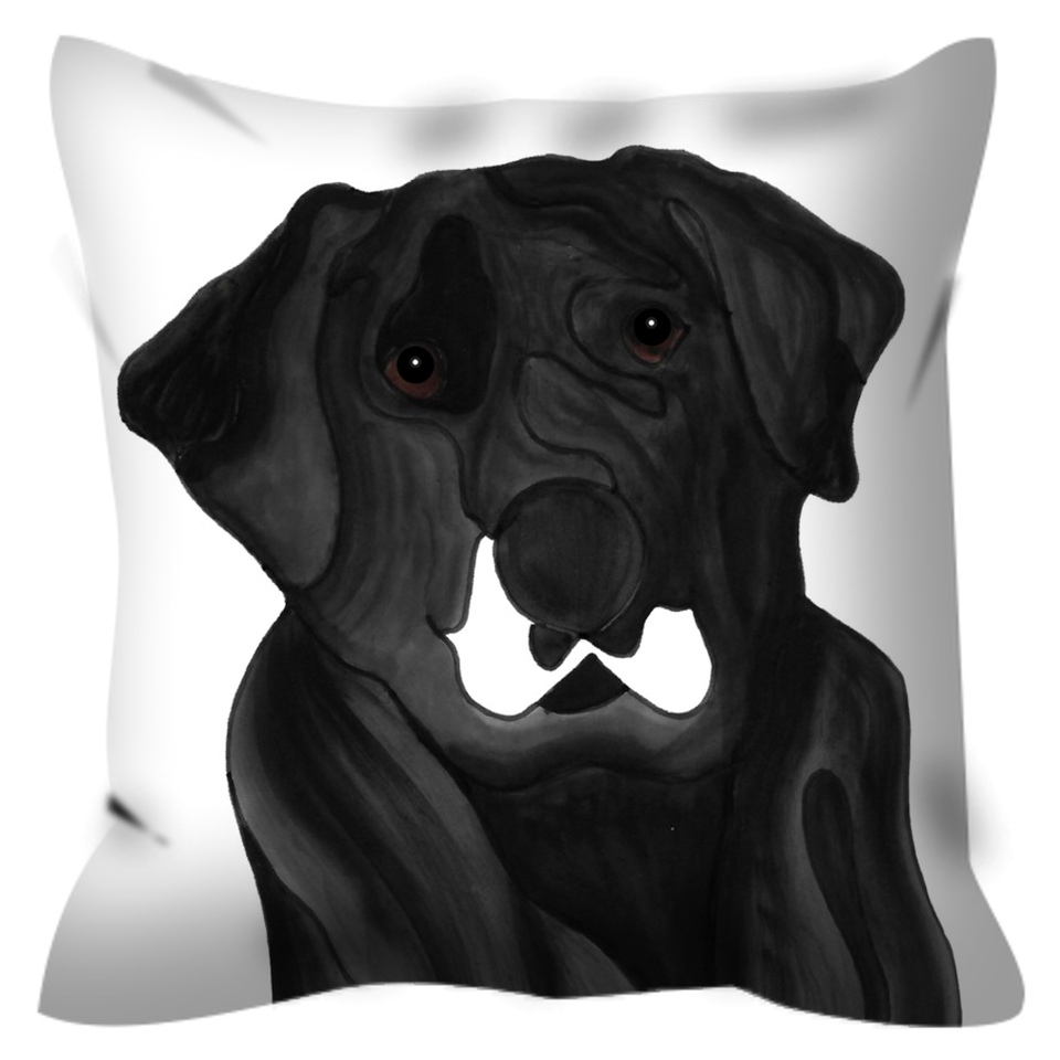 Mutt 5 Dog Outdoor Pillow - 5 - SMH