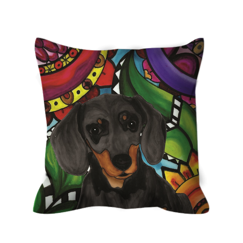 Dachshund Dog Outdoor Pillow - BL