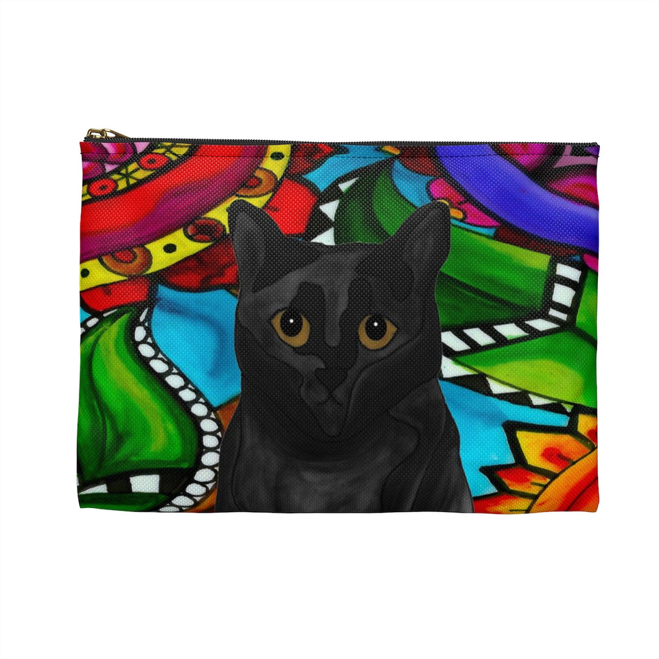 Black Cat Zipper Pouch - BL