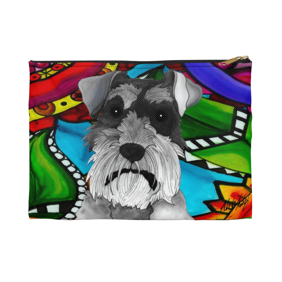 It's a Beautiful Schnauzer Life Zipper Pouch