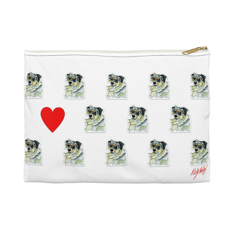 Australian Shepherd Dog Zipper Pouch - 2 - SMH