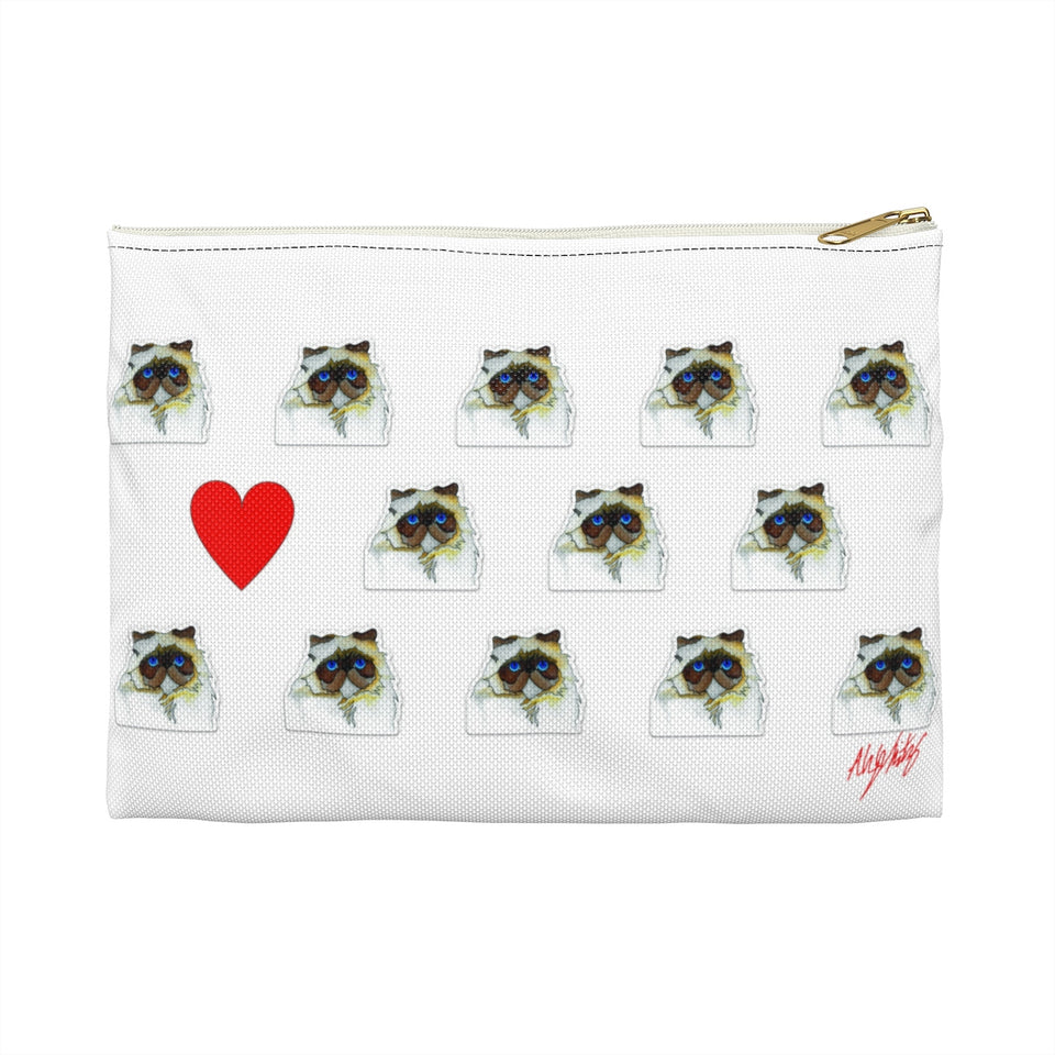 Stole My Heart Persian Zipper Pouch
