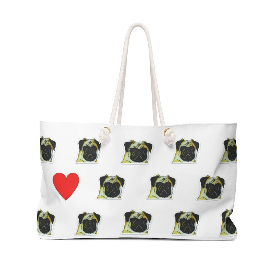 Stole My Heart Pug Weekender Tote