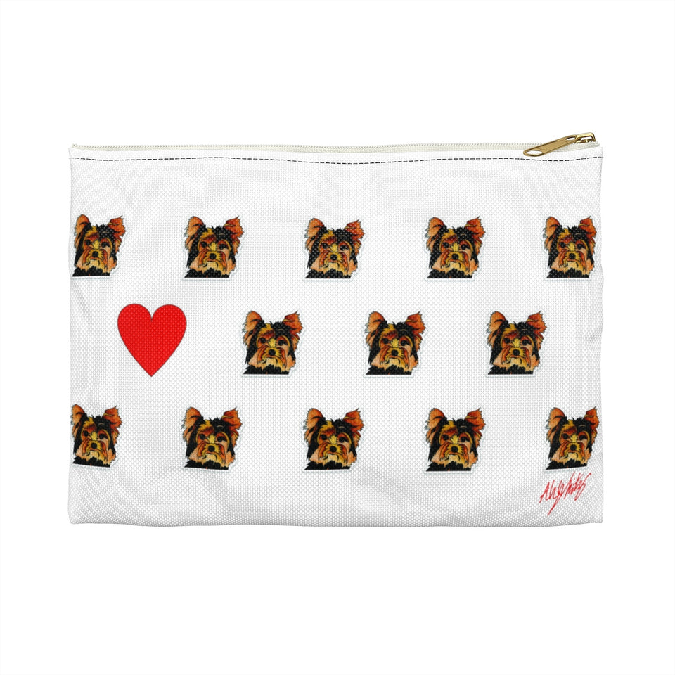 Stole My Heart Yorkie Zipper Pouch