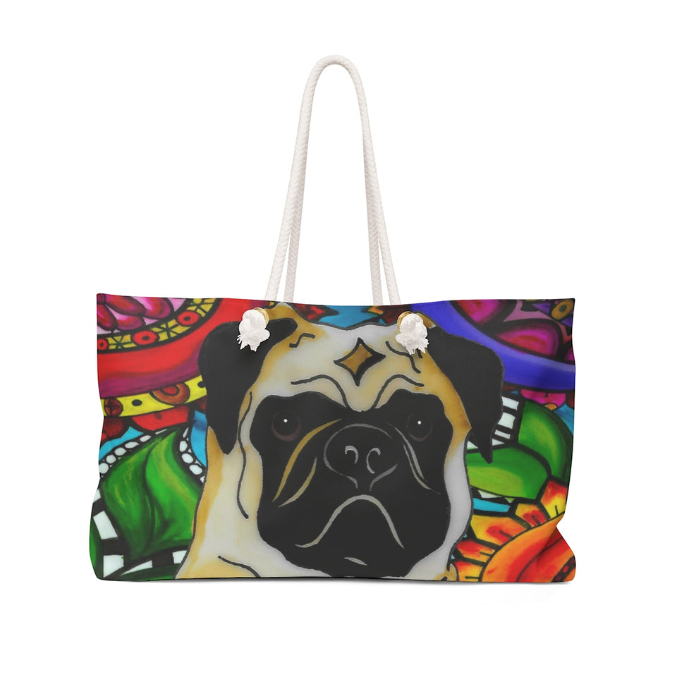 It's a Beautiful Pug Life Weekender Tote