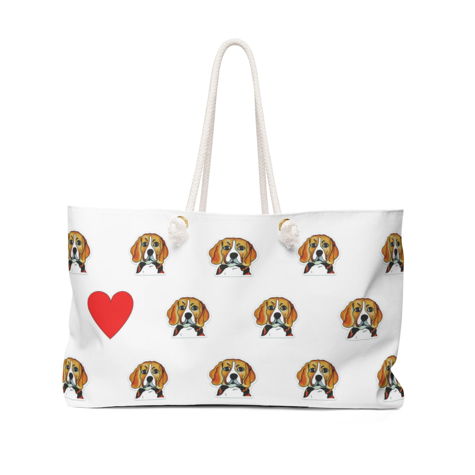 Stole My Heart Beagle Weekender Tote