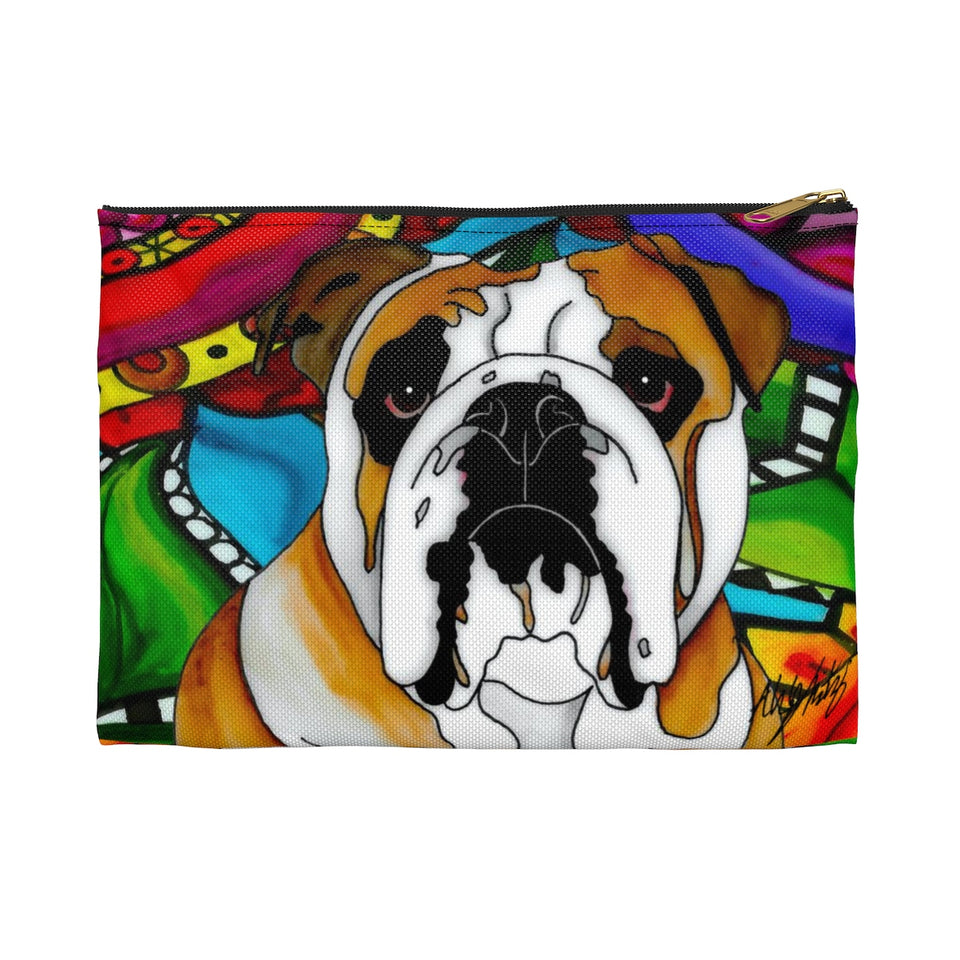 It's a Beautiful Bulldog Life Zipper Pouch