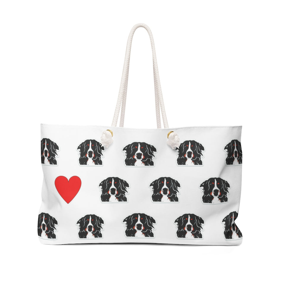 Stole My Heart Bernese Mountain Dog Weekender Tote