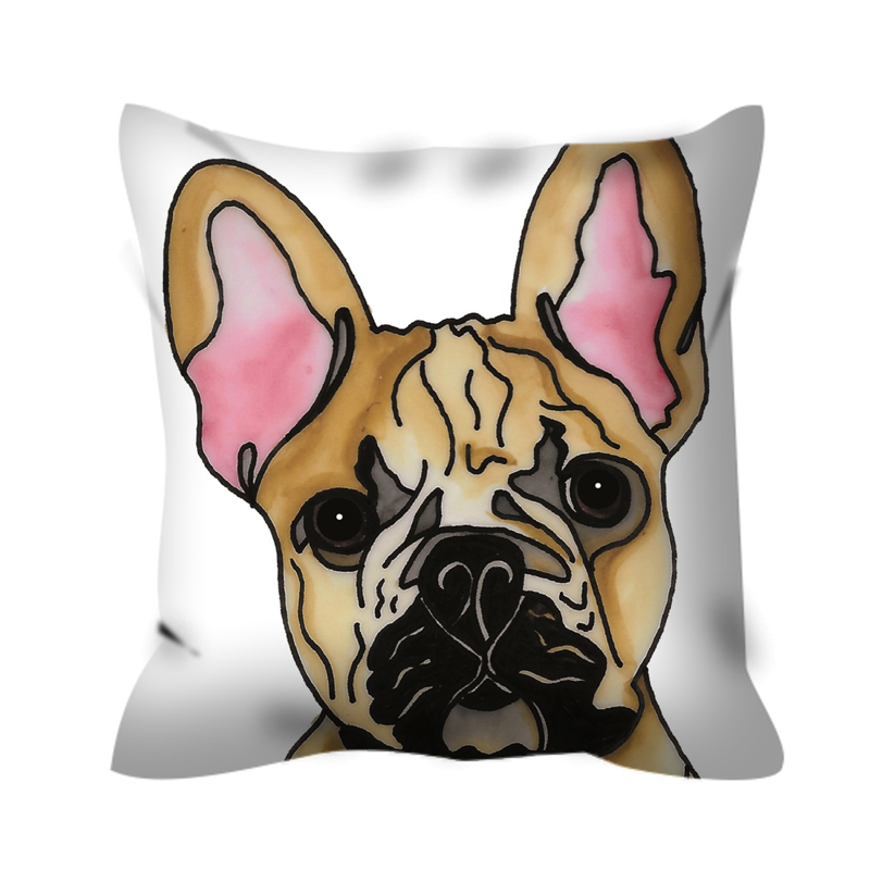 Stole My Heart French Bulldog Outdoor Pillow