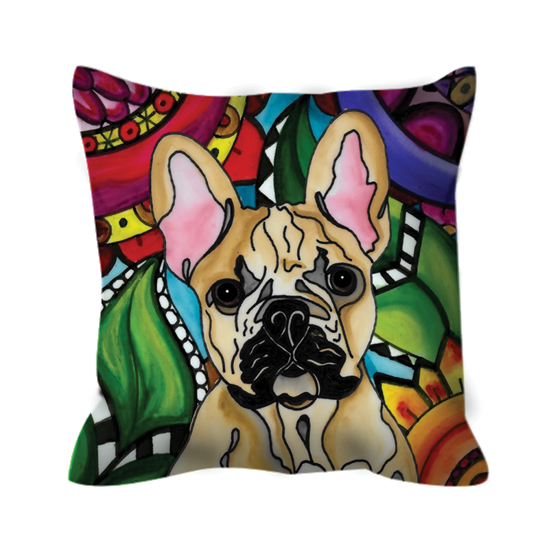 It's a Beautiful French Bulldog Dog Life Outdoor Pillow