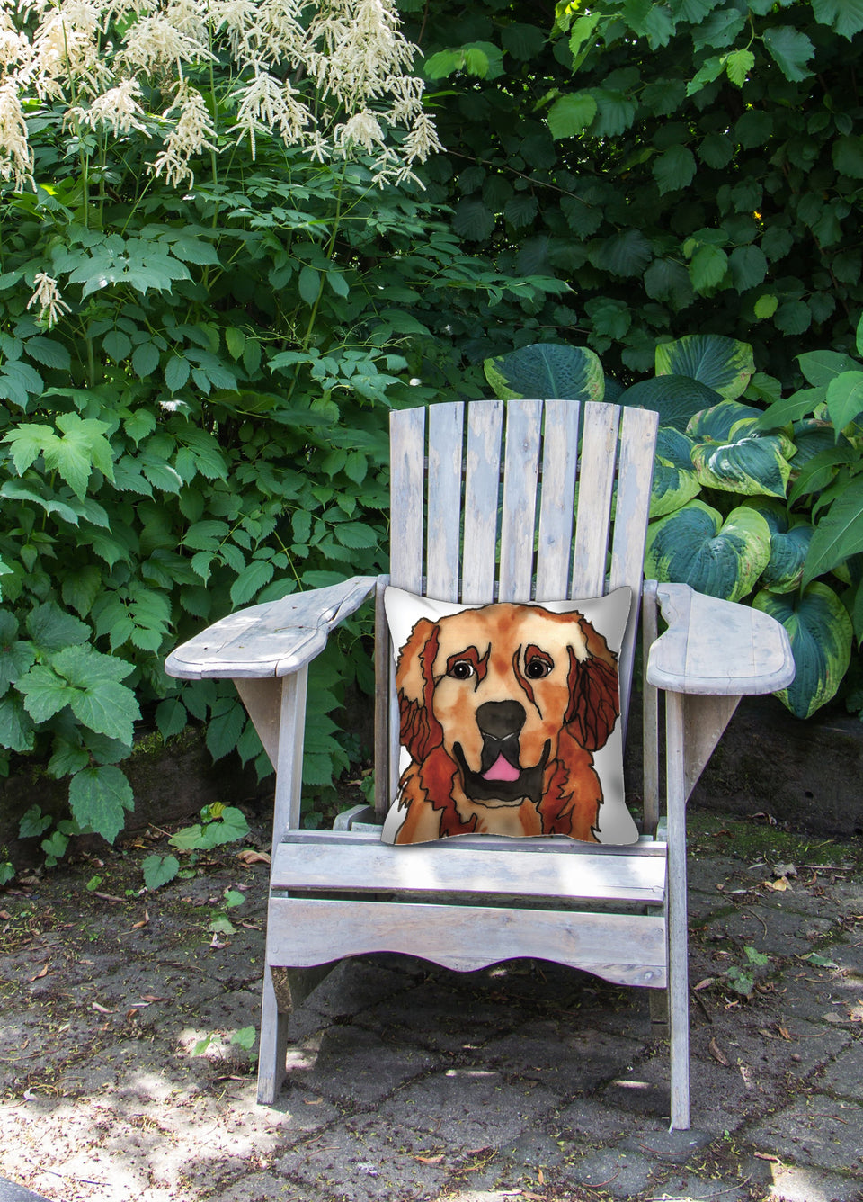 Golden Retriever Dog Outdoor Pillow - SMH