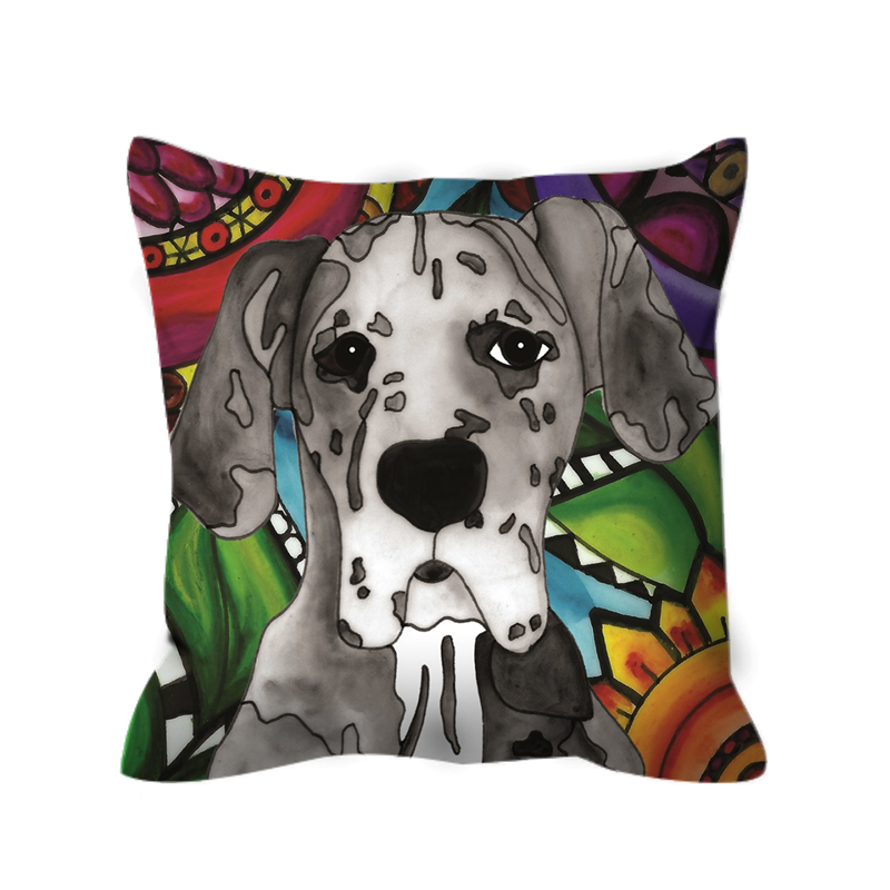 Great Dane Dog Outdoor Pillow - BL