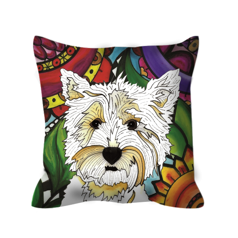 It's a Beautiful Highland Terrier Life Outdoor Pillow