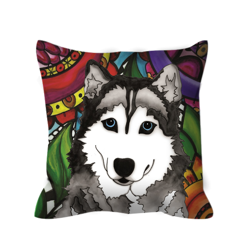 Husky Dog Outdoor Pillow - BL