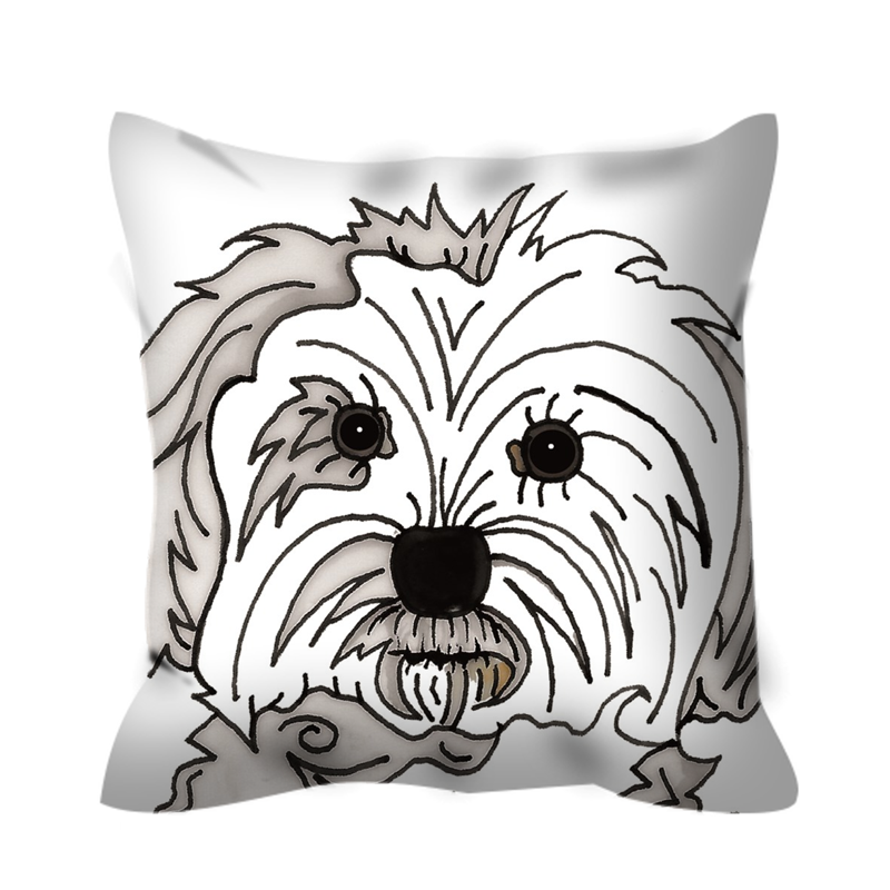 Stole My Heart Maltese Outdoor Pillow