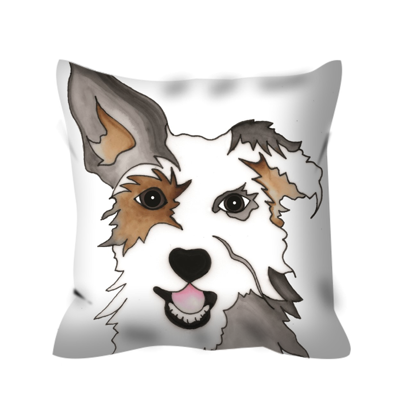 Mutt Dog Outdoor Pillow - 1 - SMH