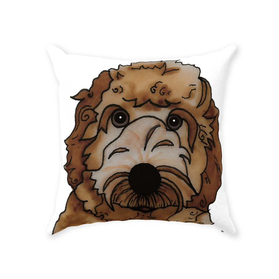 Labradoodle Dog Indoor Pillow - SMH