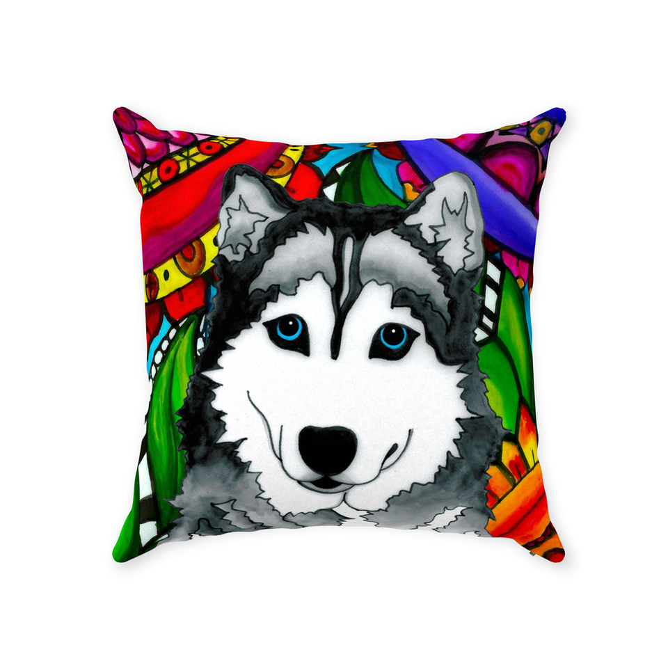 Husky Dog Indoor Pillow - BL