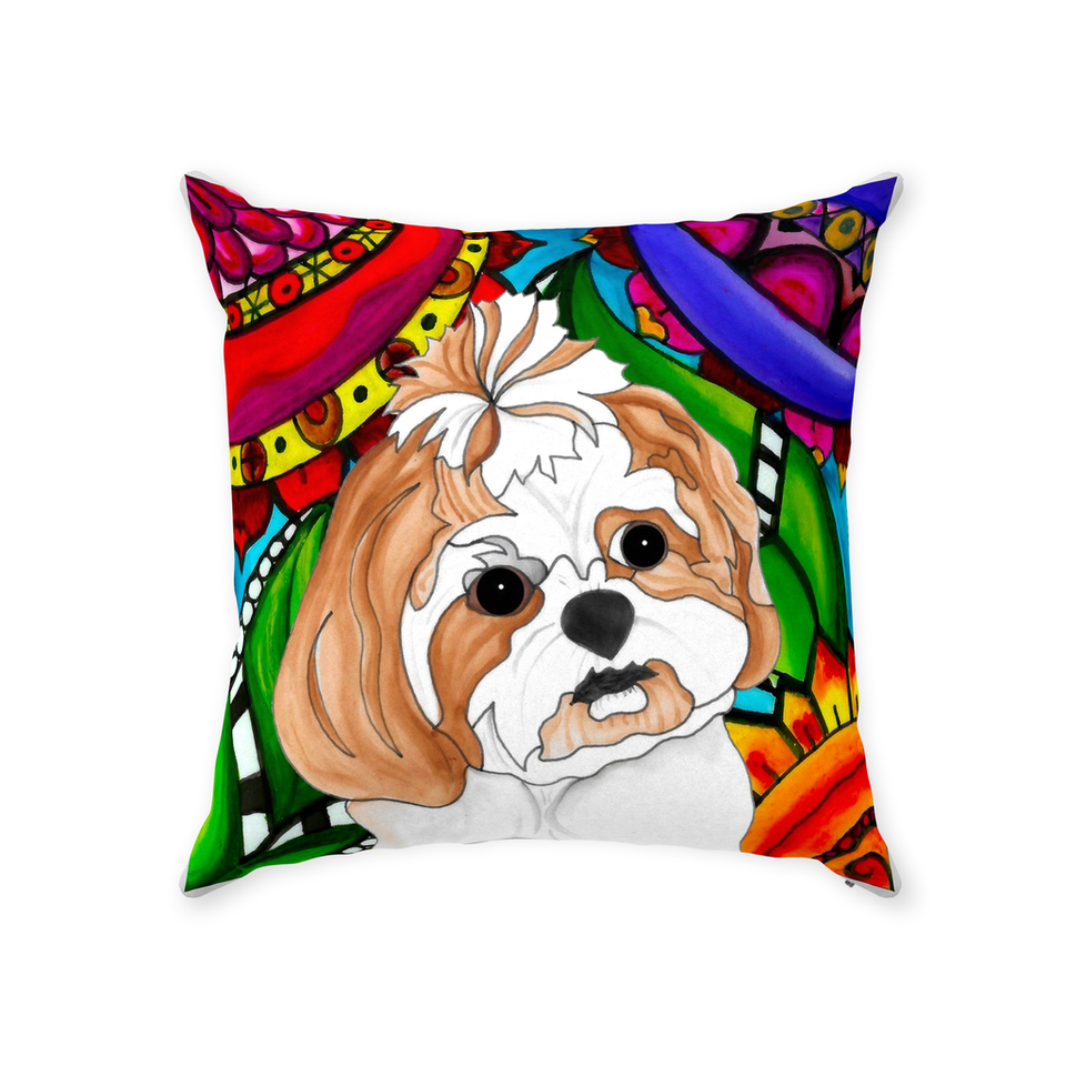 Shih Tzu Dog Indoor Pillow - 2 - BL