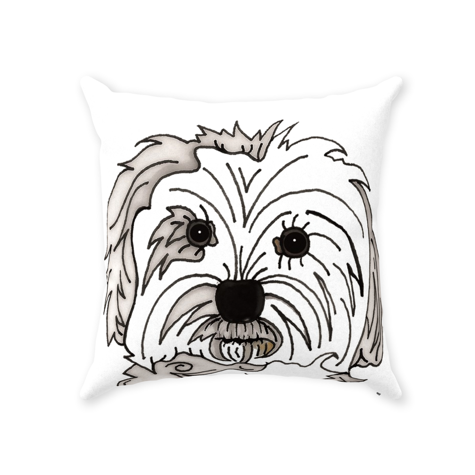 Maltese Dog Indoor Pillow - SMH
