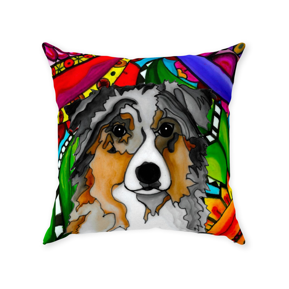 Australian Shepherd Dog Indoor Pillow - BL