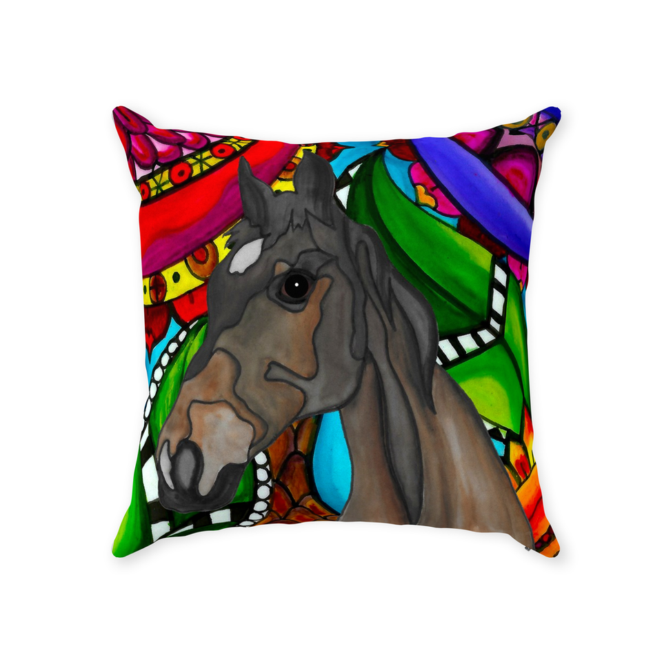 Horse Indoor Pillow - 1 - BL