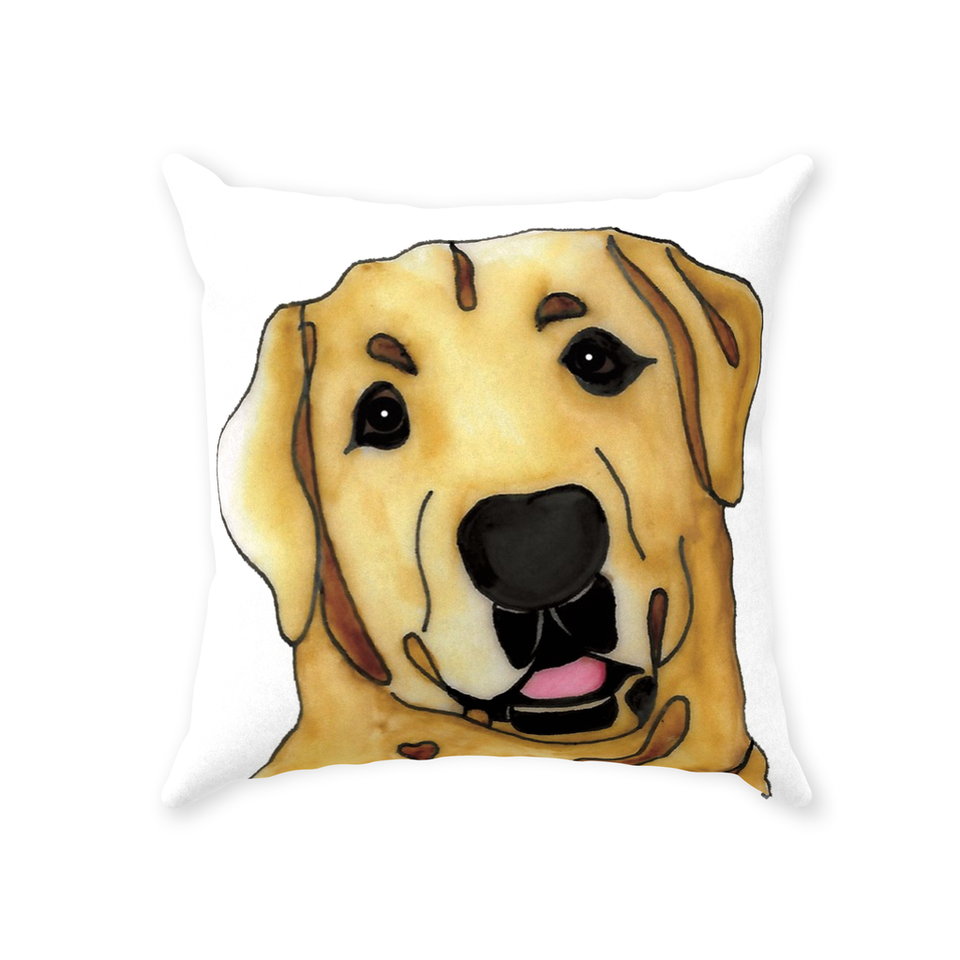 Yellow Lab Dog Indoor Pillow - SMH