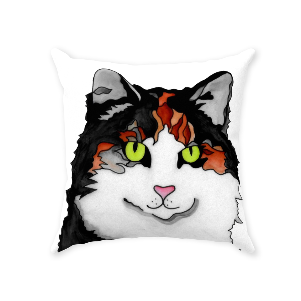 Calico Cat Indoor Pillow - SMH