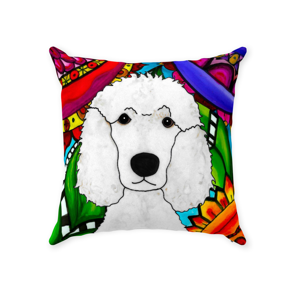 Standard Poodle Dog Indoor Pillow - 3 - BL