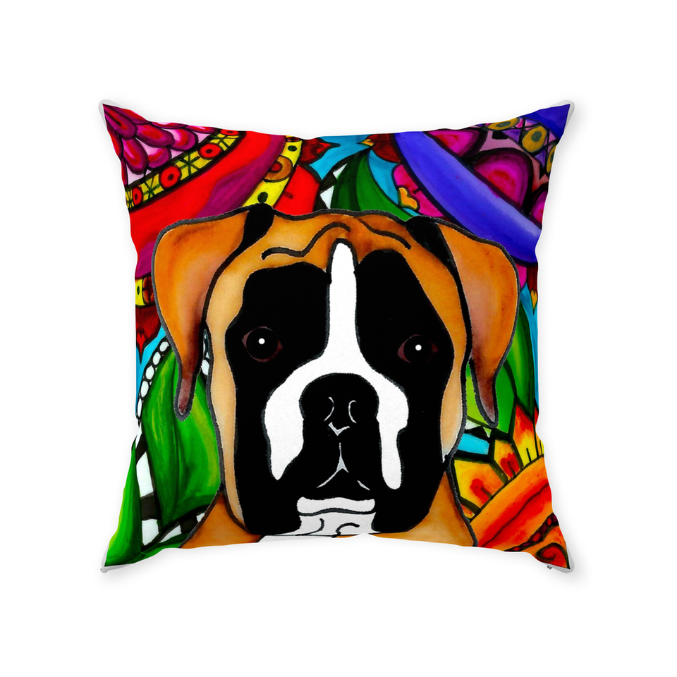 Boxer Dog Indoor Pillow - 1 - BL