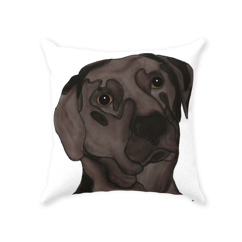 Chocolate Lab Dog Indoor Pillow - SMH