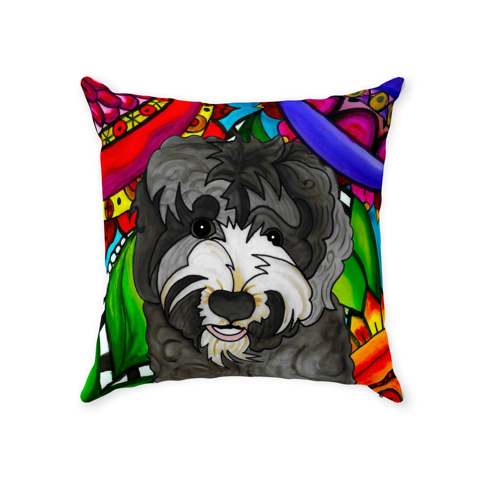 Australian Labradoodle Dog Indoor Pillow - BL