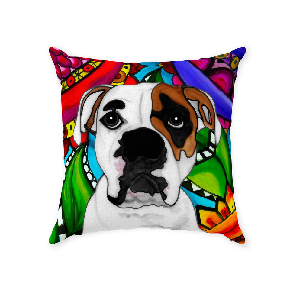 American Bulldog Indoor Pillow - 2 - BL