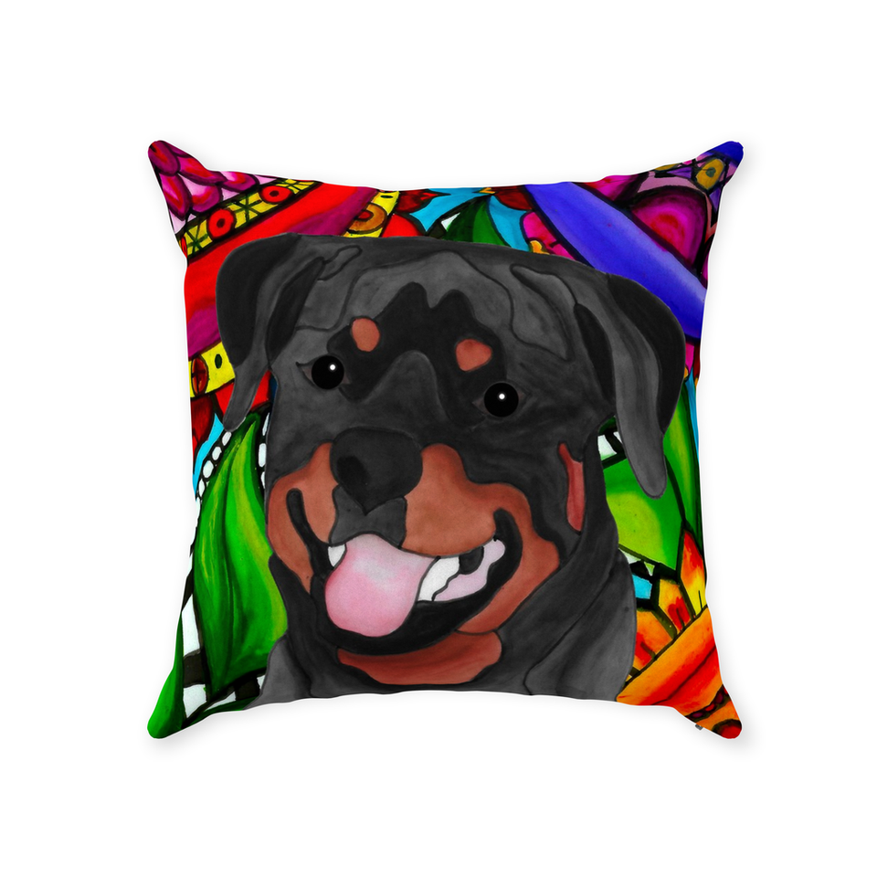 Rottweiler Dog Indoor Pillow - BL