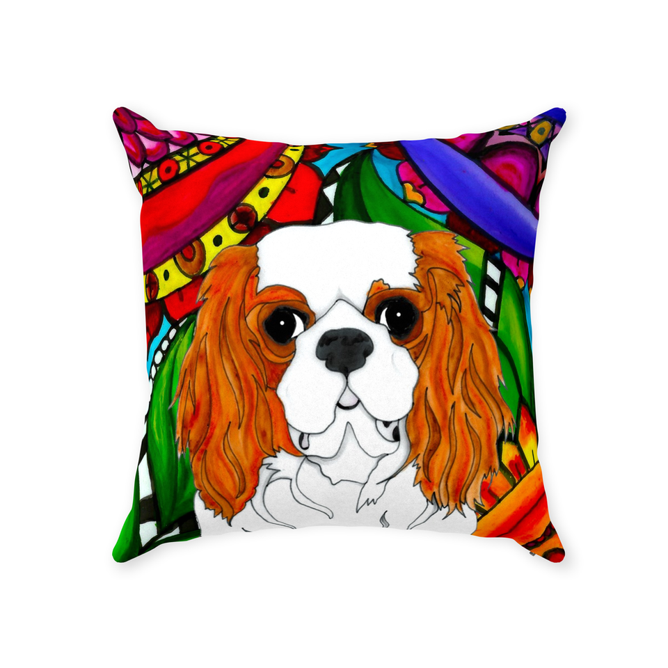 Cavalier King Charles Spaniel Dog Indoor Pillow - BL