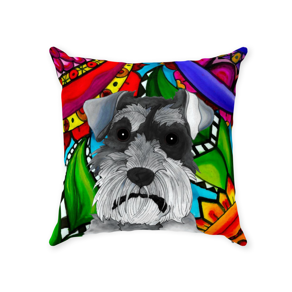 Schnauzer Dog Indoor Pillow - BL