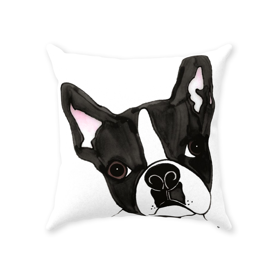 Boston Terrier Dog Indoor Pillow - SMH