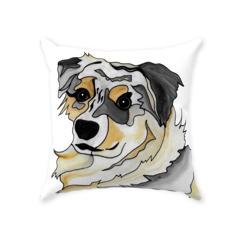 Australian Shepherd Dog Indoor Pillow - 2 - SMH