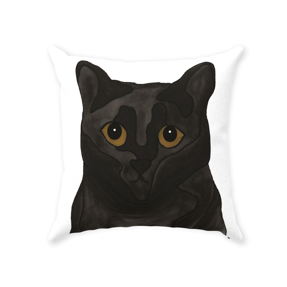 Black Cat Indoor Pillow - SMH