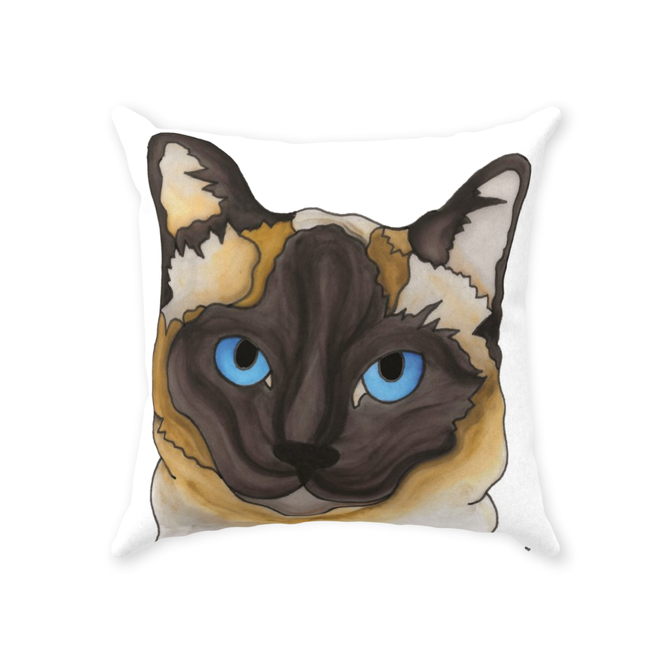 Siamese Cat Indoor Pillow - SMH
