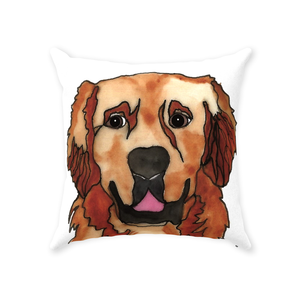 Golden Retriever Dog Indoor Pillow - SMH