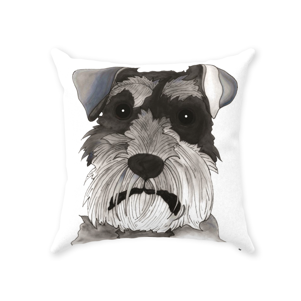 Schnauzer Dog Indoor Pillow - SMH