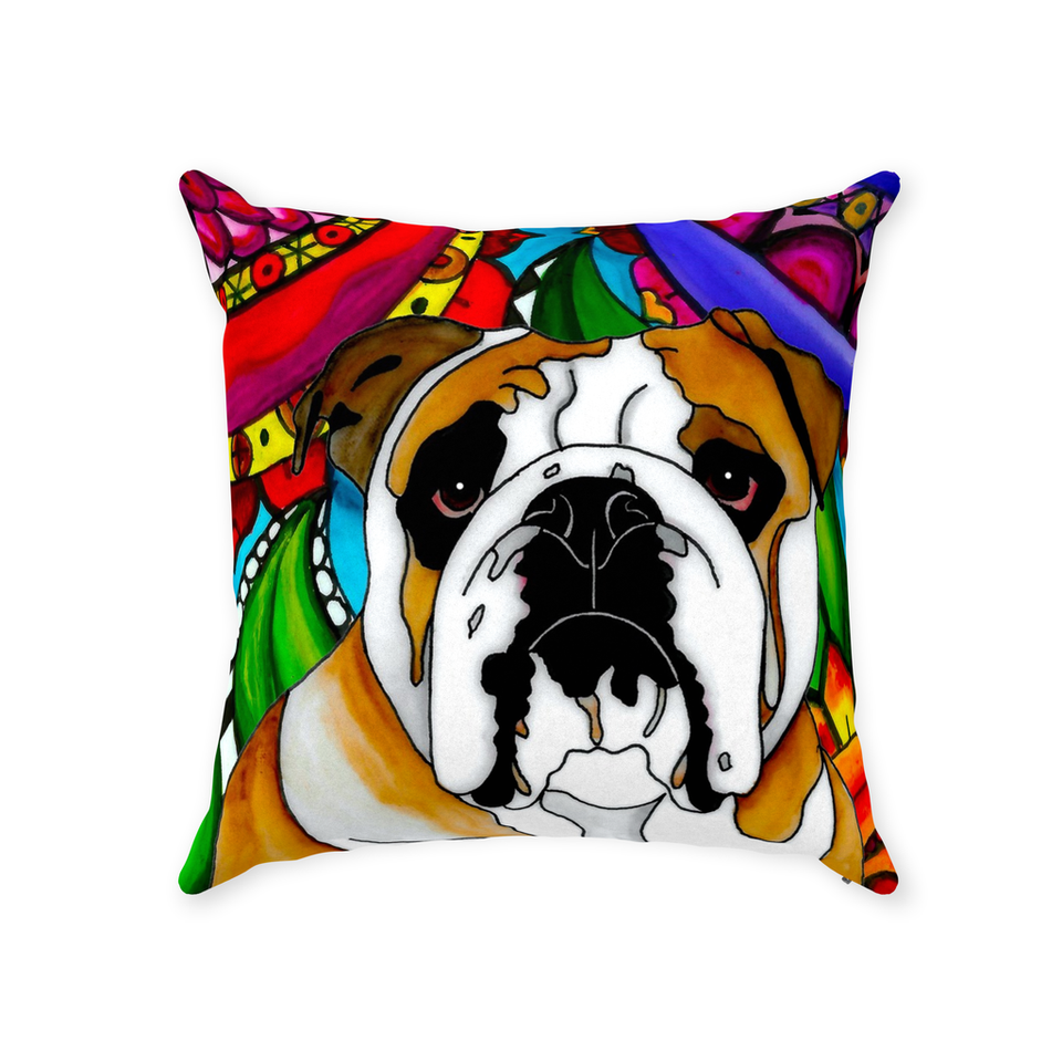 Bulldog Indoor Pillow - BL