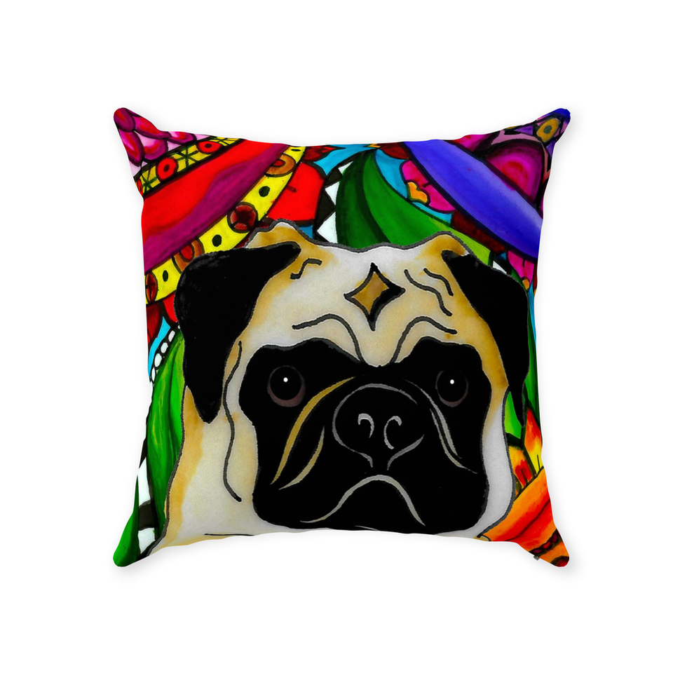 Pug Dog Indoor Pillow - BL