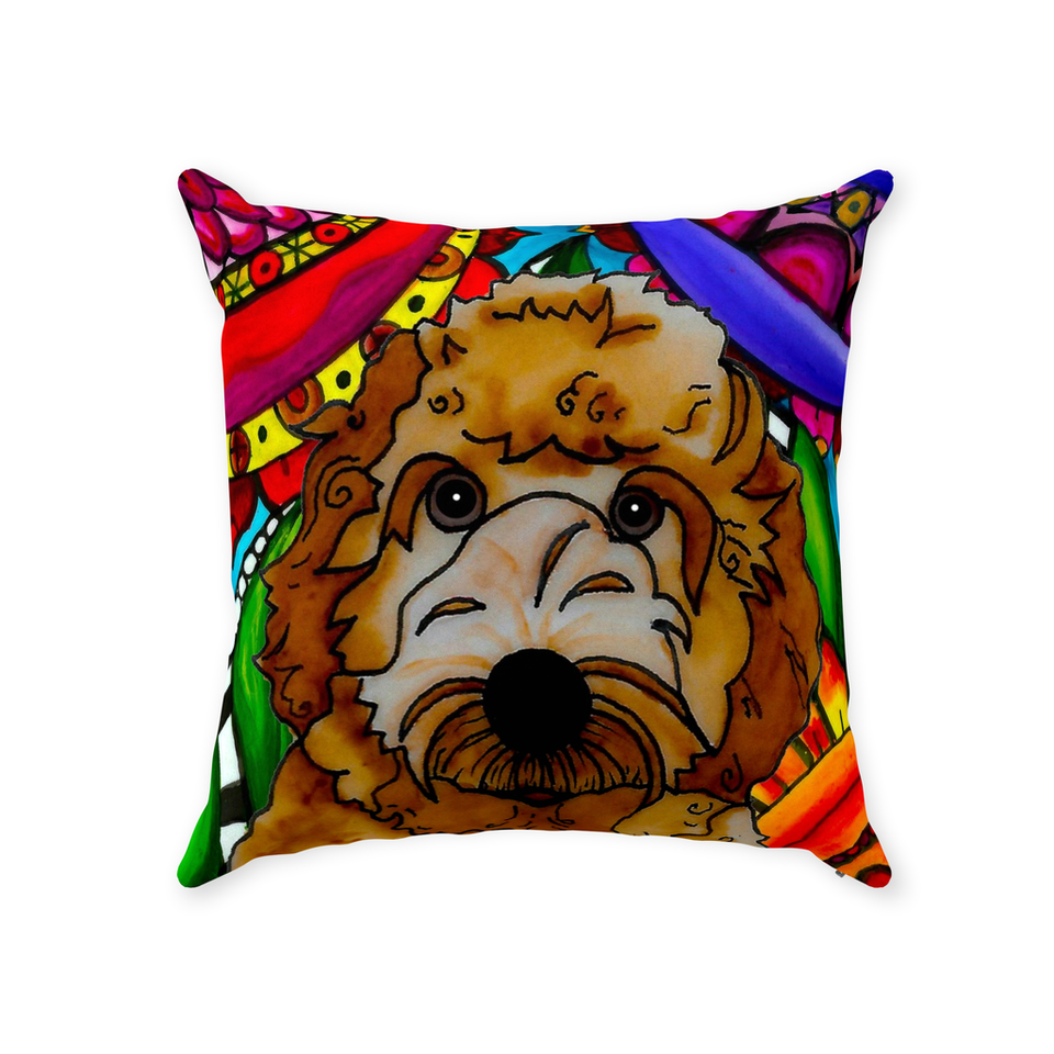 Labradoodle Dog Indoor Pillow - BL