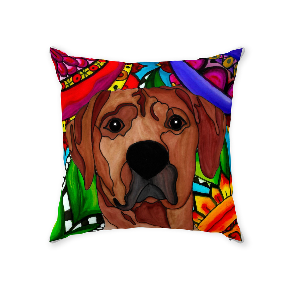 Rhodesian Ridgeback Dog Indoor Pillow - BL